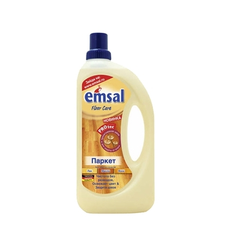 фото: Средство для мытья пола Emsal 1л, для паркета, жидкость
