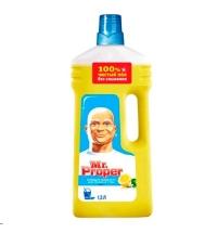 Средство для мытья пола и стен Mr Proper 1.5л, лимон, жидкость