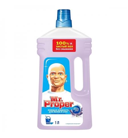 фото: Средство для мытья пола и стен Mr Proper 1л, лавандовое спокойствие, жидкость