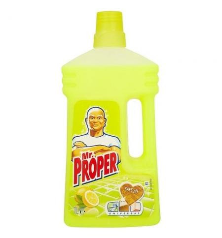 фото: Средство для мытья пола и стен Mr Proper 1л, лимон, жидкость
