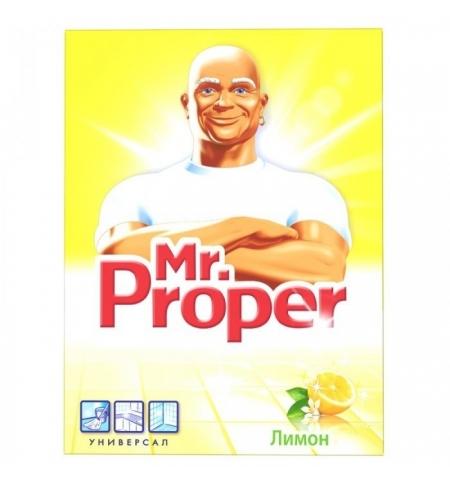 фото: Средство для мытья пола и стен Mr Proper 400г, лимон, порошок