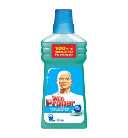 фото: Средство для мытья пола и стен Mr Proper 500мл, горный ручей, жидкость