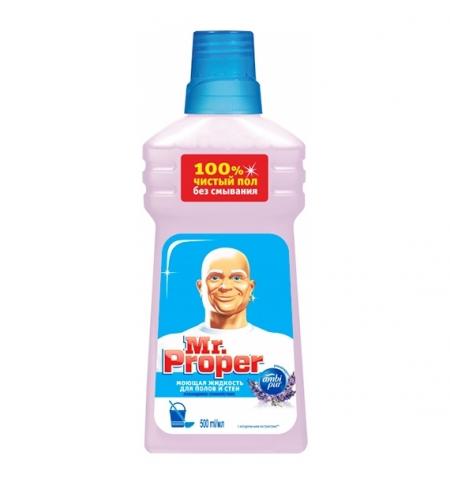 фото: Средство для мытья пола и стен Mr Proper 500мл, лавандовое спокойствие, жидкость