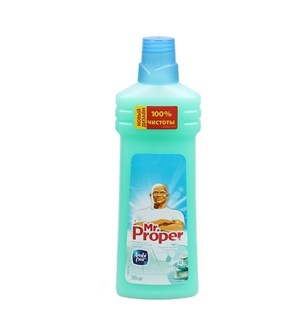 фото: Средство для мытья пола и стен Mr Proper 750мл, горный ручей, жидкость