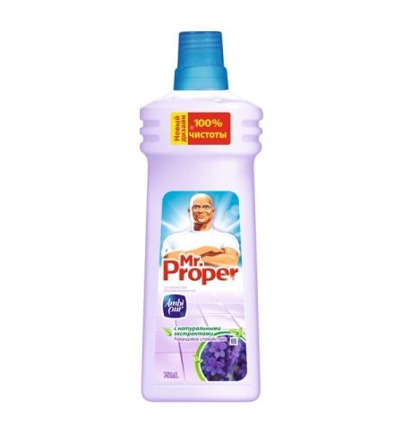 фото: Средство для мытья пола и стен Mr Proper 750мл, лавандовое спокойствие, жидкость