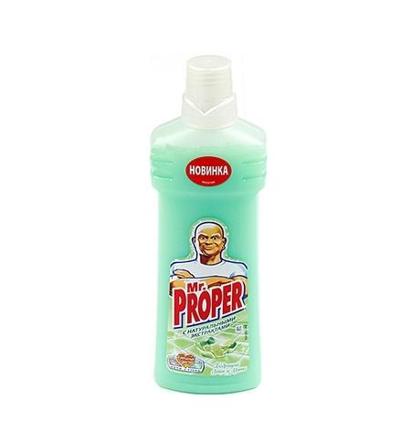 фото: Средство для мытья пола и стен Mr Proper 750мл, лайм/ мята, жидкость