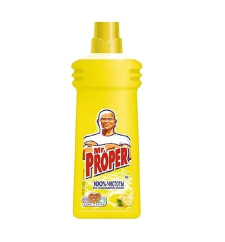 фото: Средство для мытья пола и стен Mr Proper 750мл, лимон, жидкость