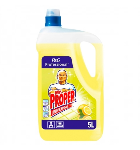 фото: Средство для мытья пола и стен Mr Proper Professional 5л, лимон, жидкость
