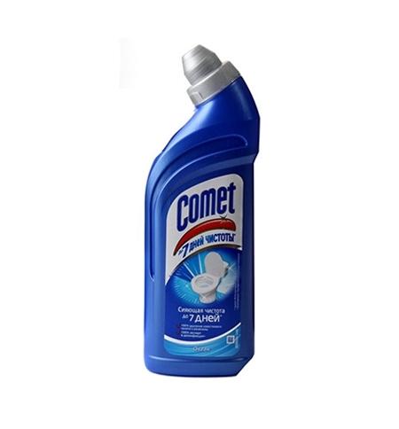 фото: Чистящее средство для сантехники Comet 7 дней чистоты 750мл, океан, гель