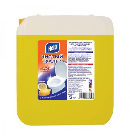 фото: Чистящее средство для сантехники Help Чистый туалет 5л, лимон, гель
