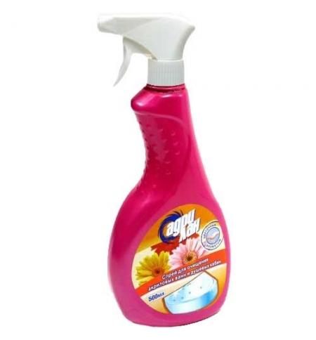 фото: Чистящее средство для сантехники Адрилан 500мл, для акриловых ванн и душевых кабин, с цветочным аром