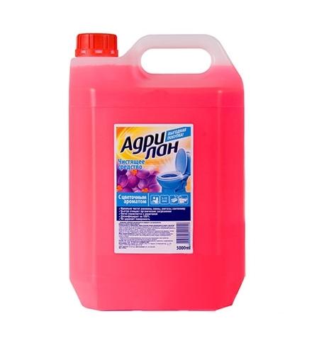 фото: Чистящее средство для сантехники Адрилан 5л, от ржавчины, с цветочным ароматом, гель