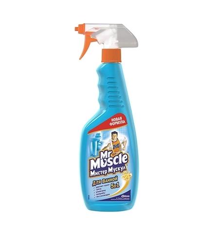фото: Чистящее средство для сантехники Мистер Мускул 5в1 500мл, для ванны, спрей