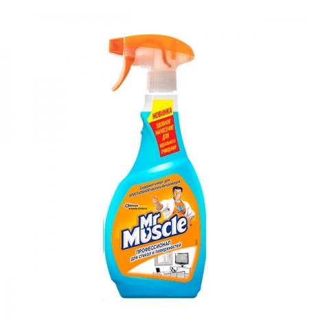 фото: Чистящее средство для стекол Mr. Muscle Профессионал 500мл, с нашатырным спиртом, спрей, синий, унив