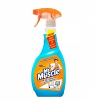 Чистящее средство для стекол Mr. Muscle Профессионал 500мл, с нашатырным спиртом, спрей, синий, унив