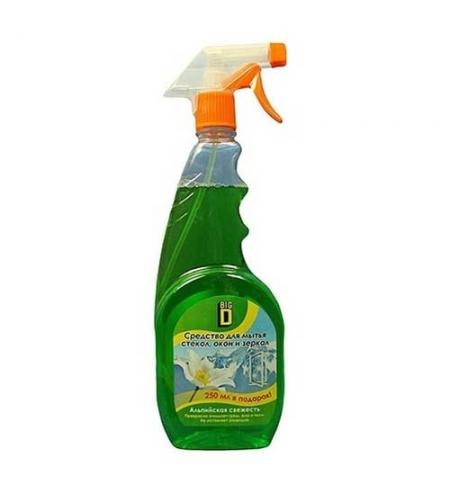 фото: Чистящее средство для стекол Phoenix Big D 750мл, альпийская свежесть, спрей