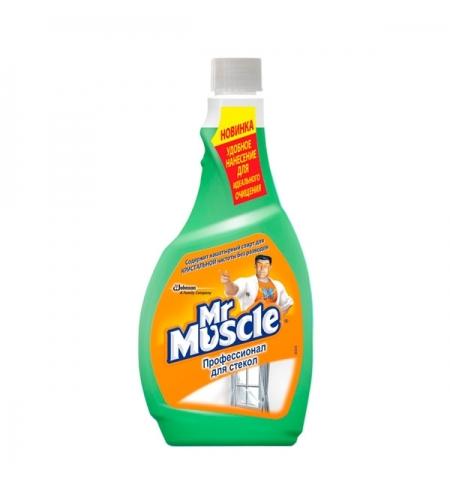 фото: Чистящее средство для стекол Мистер Мускул Профессионал 500мл, запасной блок, зеленый