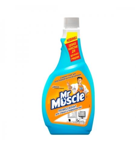 фото: Чистящее средство для стекол Мистер Мускул Профессионал 500мл, с нашатырным спиртом, запасной блок,