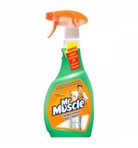 Чистящее средство для стекол Мистер Мускул Профессионал 500мл, с нашатырным спиртом, спрей, зеленый