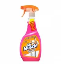 Чистящее средство для стекол Мистер Мускул Профессионал 500мл, с нашатырным спиртом, спрей, розовый