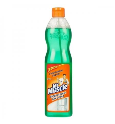 фото: Чистящее средство для стекол Мистер Мускул Эконом 500мл, с нашатырным спиртом, зеленый мире