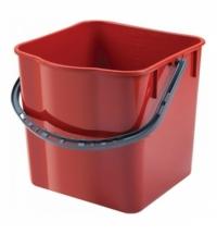 Ведро Uctem-Plas 18л, пластик, красное, SK798