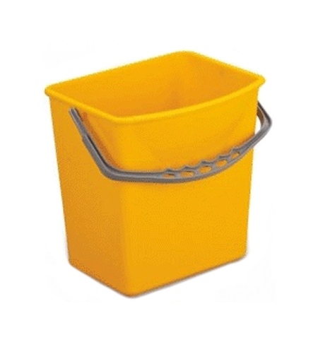 фото: Ведро Uctem-Plas 5л, пластик, желтое, KK796