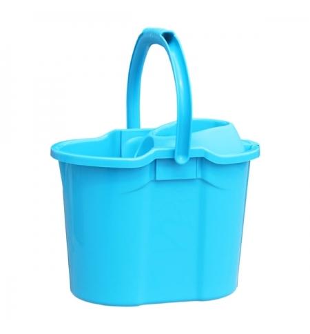 фото: Ведро с отжимом Merida 15.5л, синее, пластик
