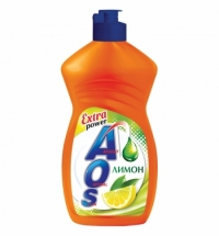 Средство для мытья посуды Aos 450мл, лимон